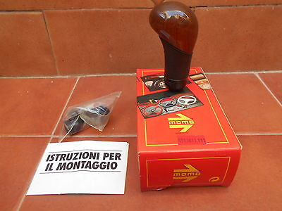 Momo gear lever knob leather wood NEW