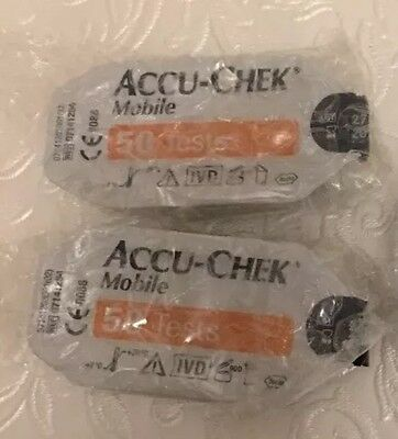 BARGAIN!! X2Accuchek Mobile Cassette Exp From 05/18 RRP £57.98 Ex F'back