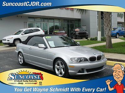 2004 BMW 3-Series Base Convertible 2-Door 2004 Convertible Used Gas 6-Cyl 2.5L/152 5-Speed Automatic w/OD RWD Leather