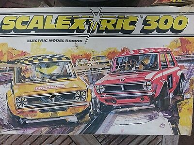 Vintage Mini Scalextric 300 Set From late 70's early 80's