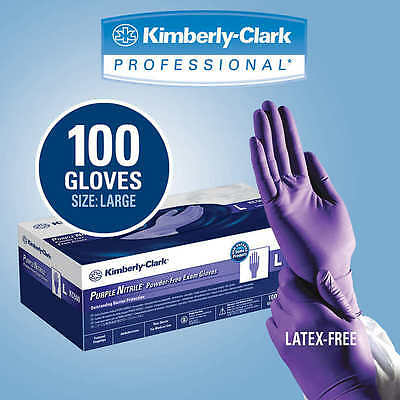 Purple Nitrile Exam Glove, Large, 100 Count, K-C Halyard 55083 - Case of 10
