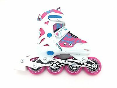 Roller Derby Youth/Girls Model# I-145GS White, Pink, and Blue Size 11-1