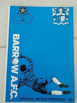 barrow v Sheffield United friendly match 7/12/1981