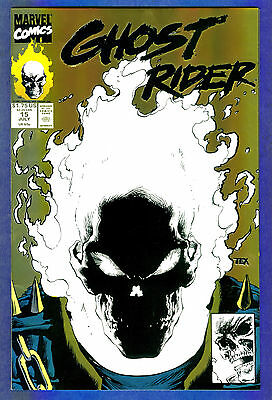GHOST RIDER # 15- Volume 2 - Marvel 1990  Glo-In-Dark Cover  - 2nd Print (fn+)