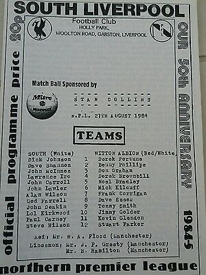 south liverpool v witton Albion 27/8/1984