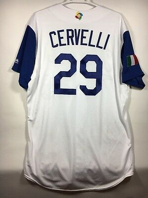 Francisco Cervelli Italy Pirates Game Used WBC Jersey MLB Hologram