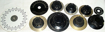 10 Assorted Radio Knobs And Dials - Nr!