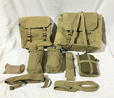 Canadian Army Military 37 Pattern Webbing Set Khaki Canvas