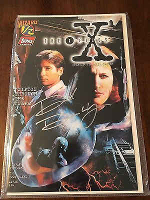 David Duchovny Signed X-Files Topps Comic Book Wizard World Convention