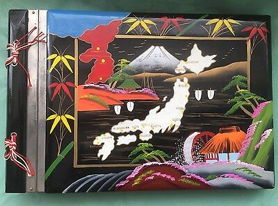 Vintage Hand Painted Japanese Musical Photograph Album