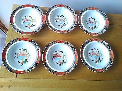Royal Staffordshire Wilkinson Ltd Burslem KO-SHAN Vintage bowls x 6