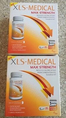XLS-Medical Max Strength 120 Tablets X 2 100% genuine boxed sealed. 2 Months
