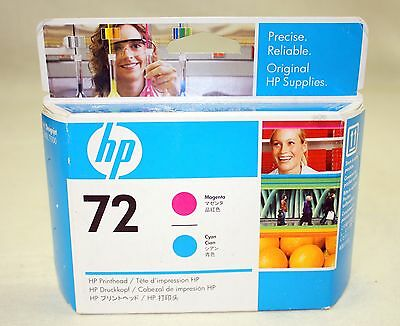 NEW Genuine Factory Sealed HP 72 Printhead C9383A Cyan & Magenta Dated Sep 2009