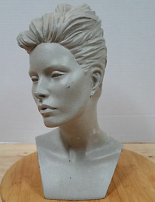 Vintage Retro 80s MANNEQUIN DISPLAY HEAD! Short Haircut Hairstyle jewelry hat