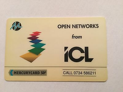 Mercury Phone cards 1991 ICL Rare Mint Condition 50p Unused Card