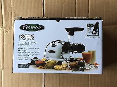 Omega J8006 Nutrition Center Juicer Commercial Masticating NEW FREE SHIPPING !!!
