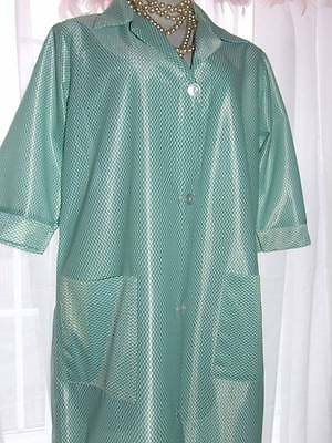 Shiny Poly Nylon Sissy Overall Housework Pinny Cleaner Wx