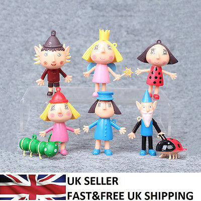 Ben and Holly's Little Kingdom 6 PCS Action Cartoon Figure Cute Doll Toys UK