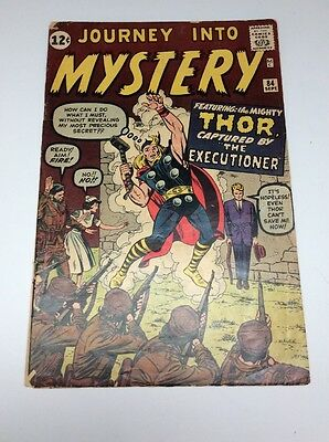 Rare Journey Into Mystery #84 2nd Appearance Of Thor 1st Appearance Jane Foster!
