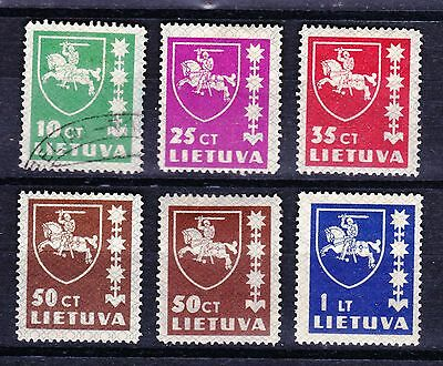 Lithuania 1937 Definitive Issue - 5 mint hinged values - 1 used  - (40)