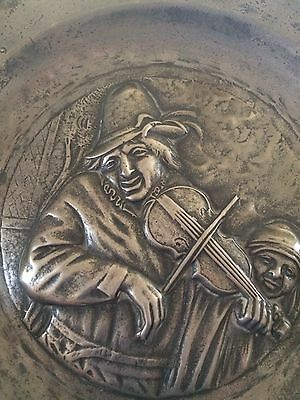 Rare Jewish 19th Cent Pewter Plate