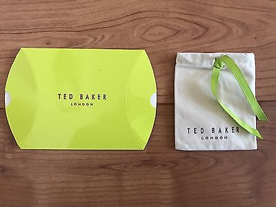 Ted Baker Jewellery Packaging - Green - Pop Up Box And Cloth Bag