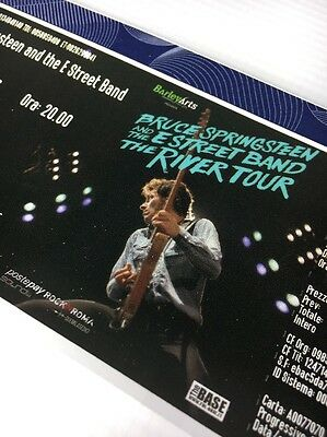 Bruce Springsteen and the E Street Band Unused Ticket 2016 Rome Italy River Tour