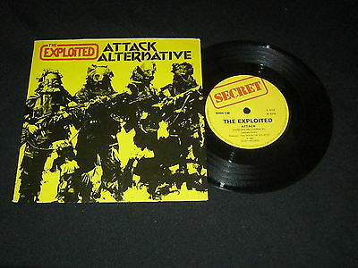 "The Exploited - Attack /  Alternatives 1982 Secret Label Punk Rock 7"" 45rpm"