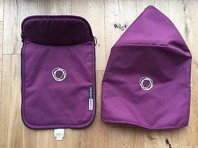Bugaboo Cameleon Limited Edition Purple Tailored Fabric Set Hood and Apron