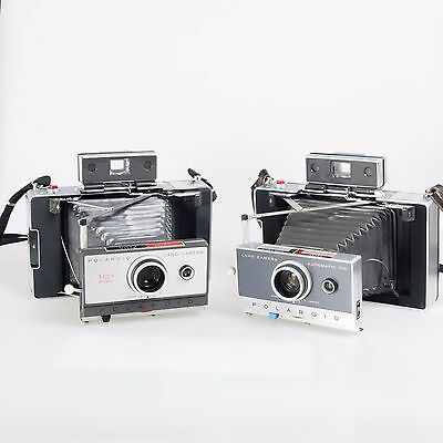# Lot of 2 Polaroid 110 100 Vintage Instant Folding Film Cameras 903