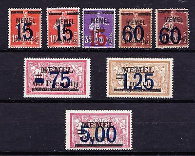 Memel 1921 - 1922 Overprints Surcharged - Mint hinged - (105)