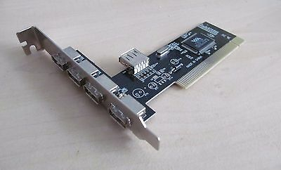 5 Port USB 2.0 PCI Controller/interface Card 1x Internal 4x External