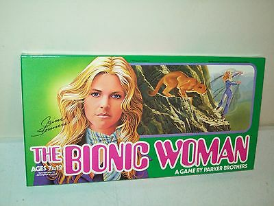 The Bionic Woman game Parker Brothers 1976 factory MINT never played pristine