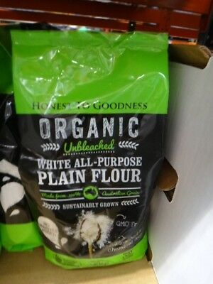 NEW Honest to Goodness Organic Plain Flour 2KG from Fairdinks