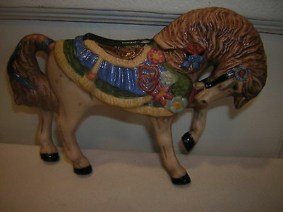 **miniature Carousel Porcelain Horse - Used With Markings.**