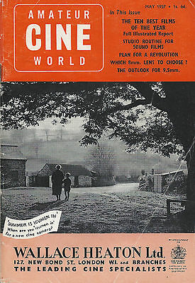 Amateur Cine World: Two issues from 1957