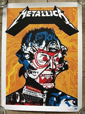 Metallica Webster Hall NYC Poster Signed Limited Print S/N Ames Bros 2016 #/130