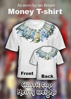 Ian Brown Money t-shirt ***REAL BANK NOTES*** The Roses (Tour- Stone -Tickets)