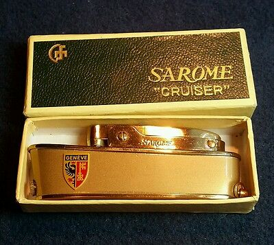 Vintage Sarome Cruiser Lighter, Newwww With Box