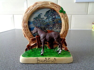 Vintage Manor Ware Picture Frame & Britains Donkey. Buckfast souvenir