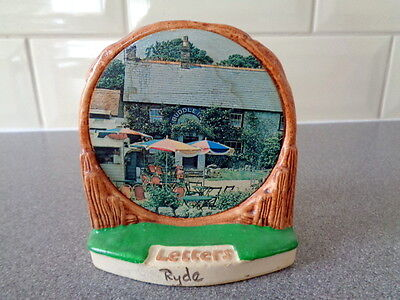 Vintage Manor Ware Picturesque Letter Rack - Ryde, Isle of Wight
