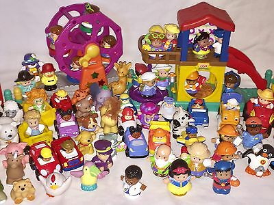 HUGE LOT Fisher Price LITTLE PEOPLE + Play Sets + Figures, Animals, & More!
