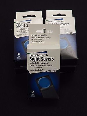 coin loupe bausch & lomb 5x sight saver magnifier