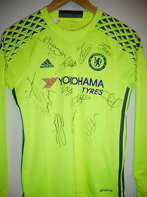 Chelsea signed football shirt by 2017 League Winning Team inc COA