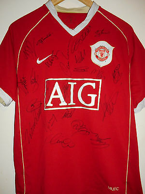 Man Utd signed football shirt by a superstar squad inc COA
