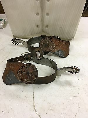 Tom Balding Set Of Spurs, Signed Rare Western Spurs