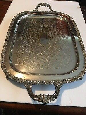 FB Rogers 1883 Silver Co Silverplate WAITER BUTLER Serving Tray 2261-LOOK
