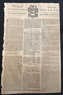 1753 BEN FRANKLIN newspaper LORD BALTIMORE Apts HORATIO SHARPE Maryland Governor