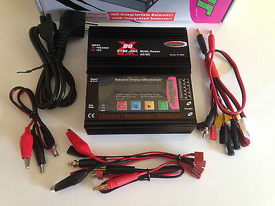 JAMARA CHARGER X-PEAK 80 Watt Dual Power 12v/220V With Multi Charging Cable!