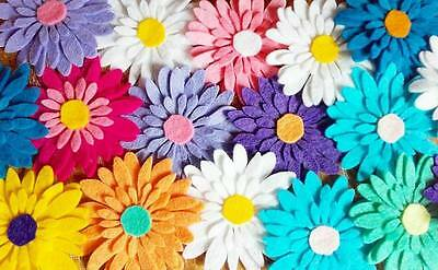 Felt Flower Die Cuts, Felt Flowers, Flower Embellishments (PACK OF 10)